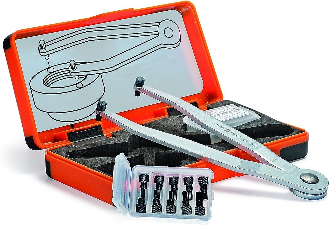 ?amf set di chiavi compasso regolabili argento/nero b008xhr4co