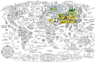 Jar Melo Super Painter;Giant Coloring Poster; The World; Doodle Art for Children; 45.3