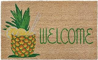 Liora Manne NTR12209612 Natura Summer Pineapple Natu Outdoor Welcome Coir Door Mat, 18