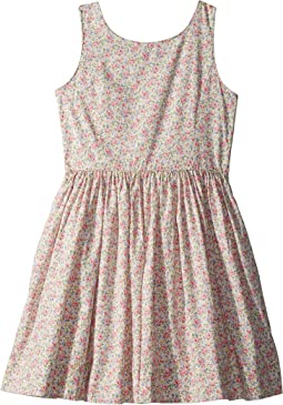 Polo Ralph Lauren Kids Floral Cotton Sleeveless Dress (Big Kids)