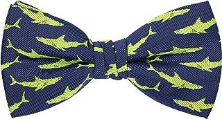 OCIA Dinosaur Shark Music Pattern Pre-Tied Bow Tie Adjustable Bowties for Mens & Boys