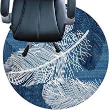سجادة كرسي للسجاد، قاعدة غير قابلة للانزلاق، مقاومة للاهتراء، صامتة، سهلة التنظيف للمنزل والمكتب (اللون: C، الحجم: 100 سم...