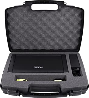 Casematix Travel Carry Case Compatible With Epson WF 100 Wireless Mobile Printer , T215 Ink Cartridges , Power Adapter , Cables and Accessories