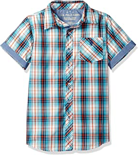Boys' Big Short Sleeve Plaid Woven Shirt