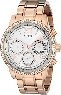 Women's U0559L3 Sporty Rose Gold-Tone Stainless Steel Watch with Multi-function Dial and Pilot Buckle
