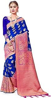 Sarees for Women Banarasi Art Silk Woven Saree l Indian Wedding Traditional Wear Sari and Blouse