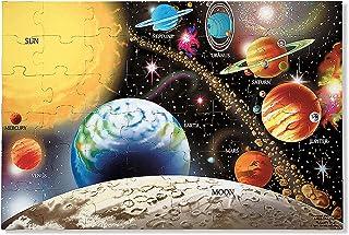 "Melissa & Doug Solar System Floor Puzzle (Floor Puzzles, Easy-Clean Surface, Promotes Hand-Eye Coordination, 48 Pieces, 36"" L x 24"" W)"