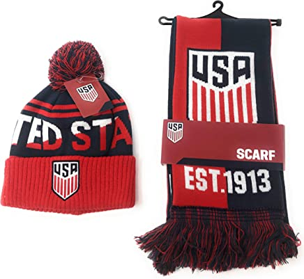 c4e40559955 USA Soccer Scarf and United States National Team Beanie Official Licensed  USMNT for Kids