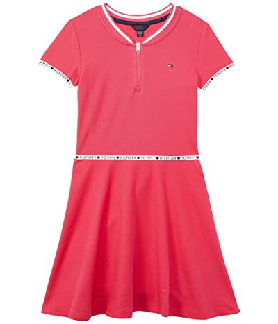 Tommy Hilfiger Kids Short Sleeve Dress with Contrast Taping (Big Kids)