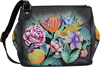 Best Women's Genuine Leather Expandable Travel Crossbody - Hand Painted Original Artwork Review