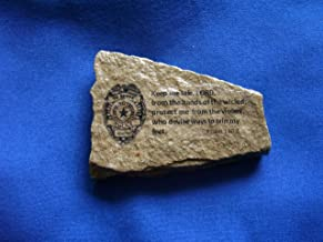 Law Enforcement Police Officer Stone gift Bible verse Prayer Psalm 140:4