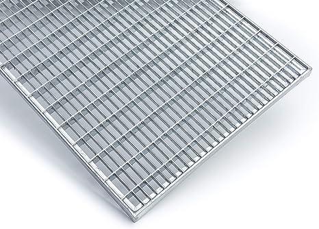 K60 Baunorm Gitterrost//verzinkt//MW 30x30 25 mm hoch 590x1190 mm