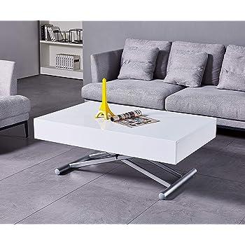 Tavolino da salotto Trasformabile Berlino Colore beige o weng/é chiaro Rovere Misure B804 x T804 x H397