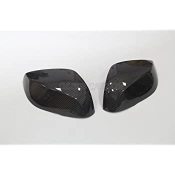 Keenso 2PCS Car Side View Mirror Cover Replacement Carbon Fiber Rearview Mirror Cover Fit for Q50//Q60//Q70//QX30