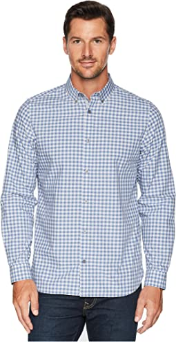 Gingham Plaid Sport Shirt