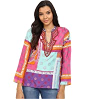 Hale Bob - Mix Master Silk Luxe Hand Beaded Blouse