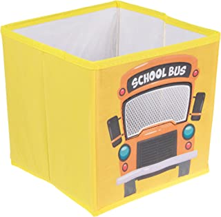 Kids Toy Storage Ottoman Play Chest Bedroom Book Seat Stool Bus Car Box Tidy Bus