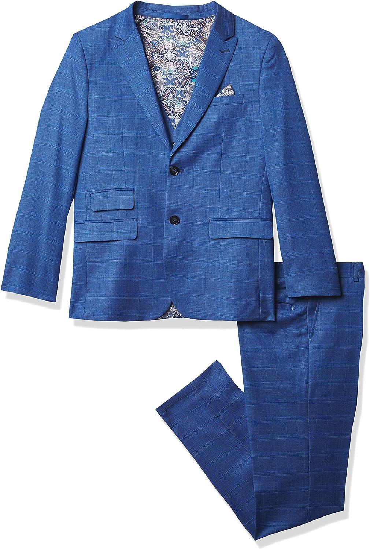 Isaac Mizrahi Boys' Slim 2-Piece Suit New York Mall Multi-Plaid Fit Ranking TOP11