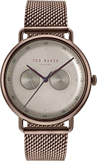 489286dcd29 Ted Baker Men s George Brown Case Beige Dial Brown Mesh Bracelet Wrist Watch  (Model