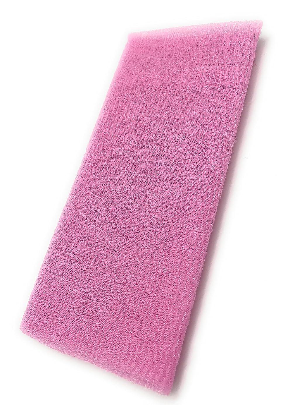 めるメロドラマティックみなさんMaltose あかすりタオル ボディタオル ロングボディブラシ やわらか 濃密泡 背中 お風呂用 メンズ 5色 (ピンク)