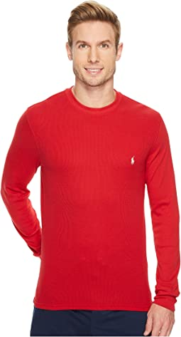Polo Ralph Lauren - Waffle Mixed Media Long Sleeve Crew