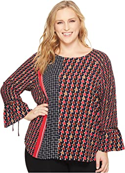 NIC+ZOE - Plus Size Mixed Dots Top