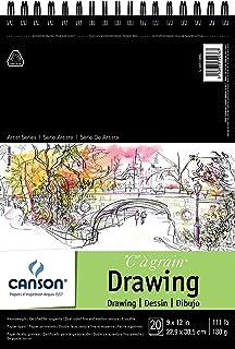 ورق رسم حبوب فئة كانسون آرتيست 1557 درجة مئوية، على الوجهين: أنسجة دقيقة ومتوسطة، مربوط بسلك علوي 50.32 كجم، 9 × 12 بوصة، ...