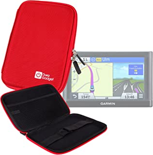 DURAGADGET Funda Rígida Roja para GPS Garmin Nüvi 66LMT / 2699LMT-D / 56LMT / 2589LMT EU - ¡Guarde Su Dispositivo De Una Manera Segura!