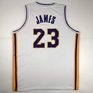 Unsigned LeBron James Los Angeles LA White Custom Stitched Basketball Jersey  Size Men s XL New No 1c74f4109