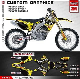 Kungfu Graphics Custom Decal Kit for Suzuki RMZ 450 2008 2009 2010 2011 2012 2013 2014 2015 2016 2017, Yellow Black,SZR40817002