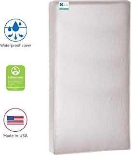 "Sealy Baby Cozy Cool Hybrid 2-Stage Dual Firmness Waterproof Standard Toddler & Baby Crib Mattress - Soybean Cool Gel Memory Foam & Premium Coils, 51.7"" x 27.3"