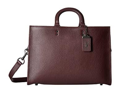 COACH Rouge Brief in Glovetan Leather (New Oxblood) Briefcase Bags