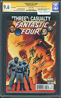 FANTASTIC FOUR # 587 VARIANT EDITION SS STAN LEE, STEVE EPTING, JONATHAN HICKMAN, MOUNTS & CASSADAY CGC-GRADED 9.6 WHITE PAGES