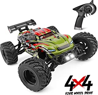 Remote Control Car 1:18 Scale Hailstorm, 4WD All Terrain RC Car High Speed Racing 36 kmh, 2.4 GHz RC Truck 4X4 Off Road Waterproof Electric Powered, Radio Control Toys Gift for Kids and Adults