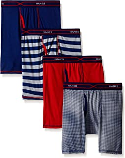 Boys' 4-Pack X-Temp Long Legged Dyed Boxer Brief