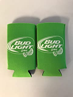 BUD LIGHT LIME - Lime Green - Iconic Design - Beer Can Cooler - 2 Pk