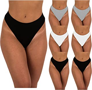 Sexy Basics Women's 6-Pack & 12 Pack Active Sport Thong Panties Underwear
