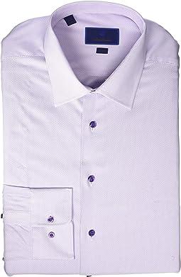 Trim Fit Textured Micro Tic Dress Shirt
