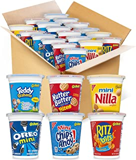 OREO Mini Cookies, CHIPS AHOY Mini Cookies, RITZ Bits Cheese Crackers, Teddy Grahams Honey, Nutter Butter Bites, Mini Nill...