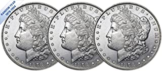 (1878-1904) Morgan Silver Dollar (BU) Three Coins Brilliant Uncirculated