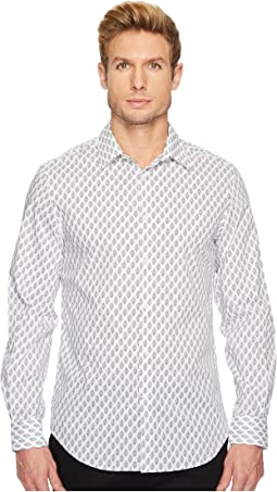 Perry Ellis - Regular Fit Bouquet Print Stretch Shirt