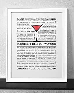 Customized Sex and the City Quotes Art Print Frame Not Included