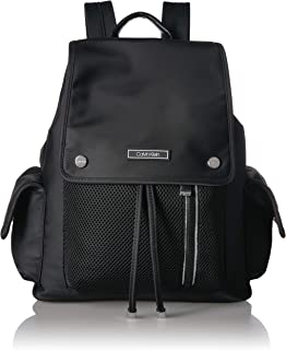 Calvin Klein Tali Nylon Mesh Organizational Flap Backpack