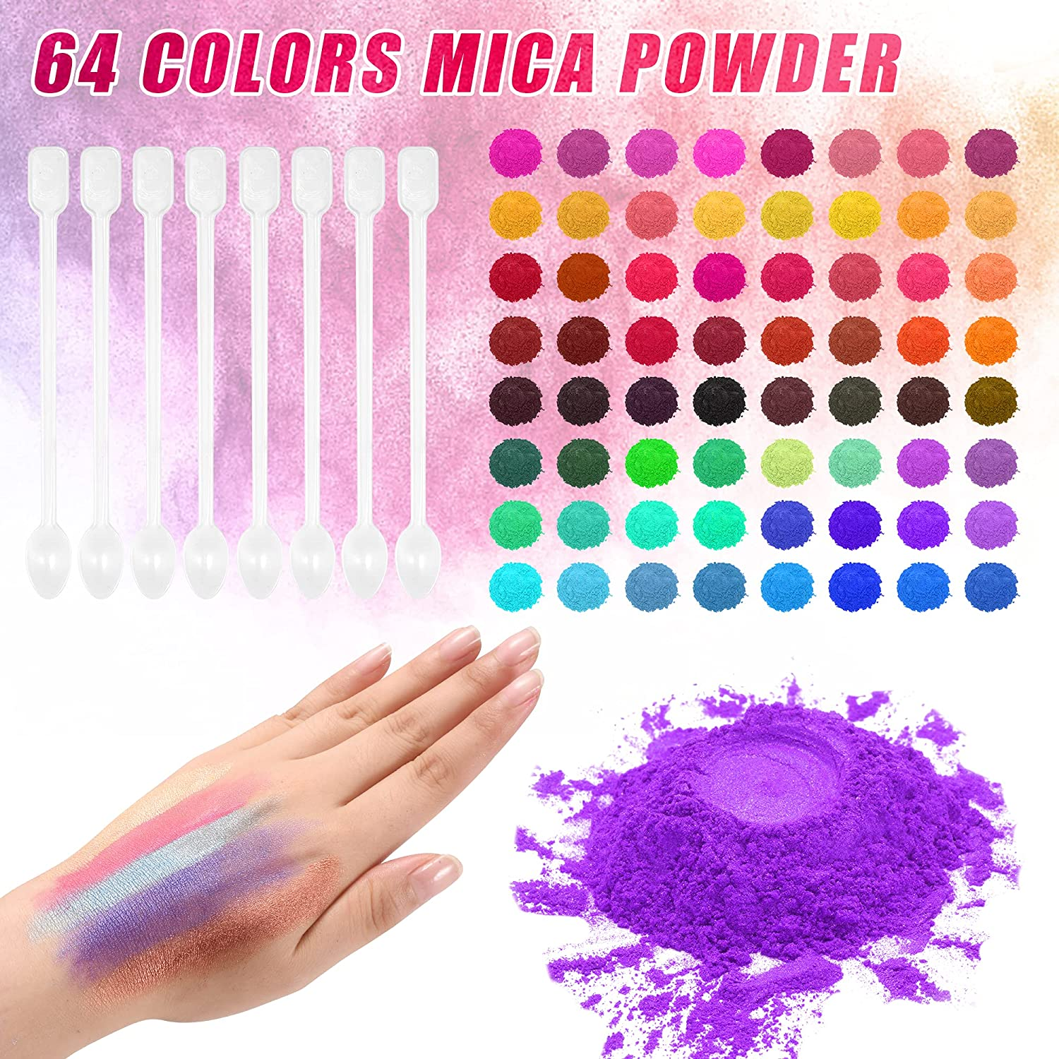 KSRIDOTE Mica Powder Dye 64 for Color Ranking TOP20 Resi Pigment Dealing full price reduction Epoxy