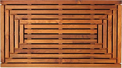 Bare Decor Giza Shower, Spa, Door Mat in Solid Teak Wood and Oiled Finish 35.5
