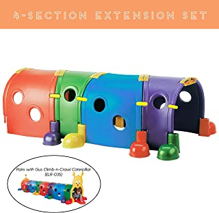 ECR4Kids Extension Set for Climb-N-Crawl Caterpillar Tunnel Gus - 4-Section Expansion Set - Indoor or Outdoor Fun
