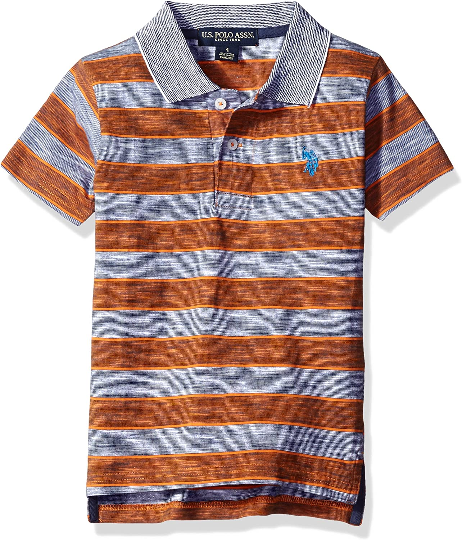 U.S. Polo Assn. Boys' Space Dyed Striped Polo Shirt