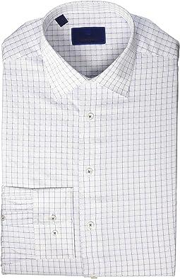 Regular Fit Twill Box Check Dress Shirt