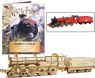 Harry Potter Hogwarts Express Book and 3D Wood Model Figure Kit - Build, Paint and Collect Your Own Wooden Movie Toy Train Model - Great for Kids and Adults, 12 + - 12