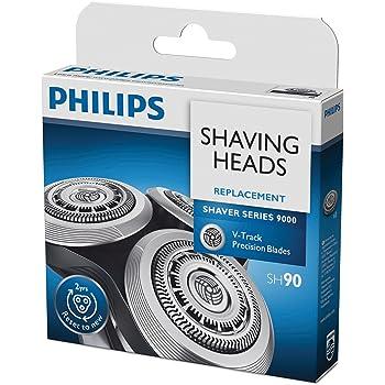 PHILIPS SH90/50 Testine di Rasatura Shaver Series 9000 Lame di Precisione V-Track, 3 Pezzi